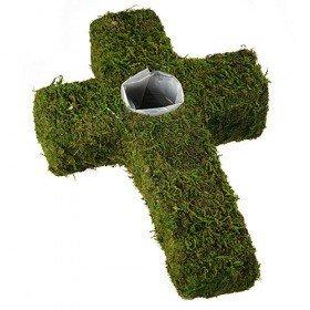 98013 | Krzyż osłonka z mchu 31 cm