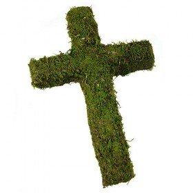 Krzyż z mchu 40 cm
