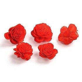 Kwiatki Belly 4 cm 10 szt./op. - jasnoczerwone