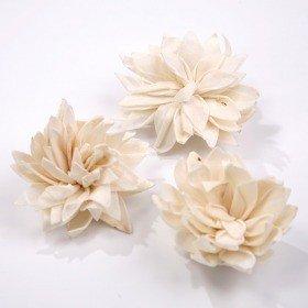 Kwiatki Lotti 6 cm 6 szt./op. - białe